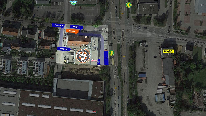 Anfahrt Power & Fitness Center Regensburg